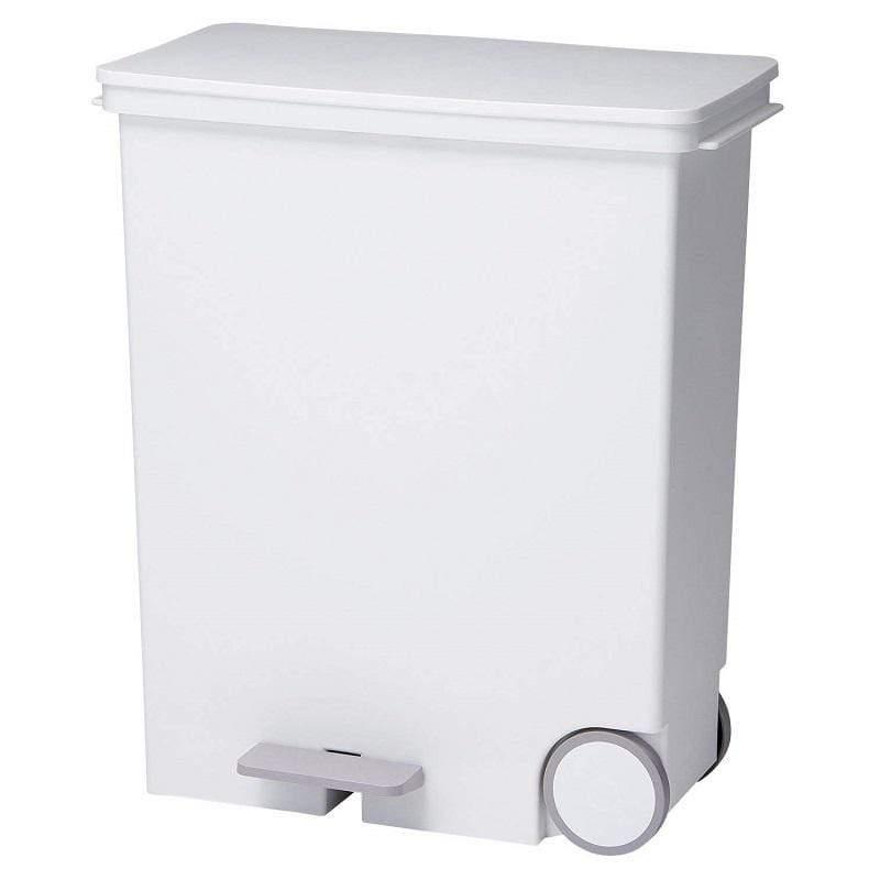 橫向式分類垃圾桶33L - 純白色