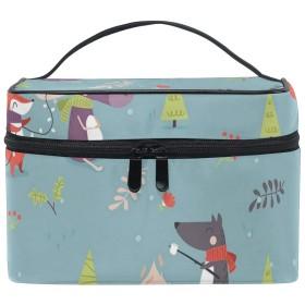 三郎の市場 冬 トラベルポーチ トイレタリーバッグ バスルームポーチ 収納バッグ 化粧ポーチ 旅行バッグ 小物整理 洗面用具入れ メッシュ