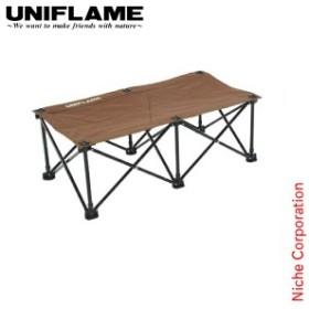ユニフレーム リラックスベンチ ブラウン×ブラック UNIFLAME [ 680315 ] キャンプ ベンチ 椅子 アウトドア 本体 チェア 送料無料