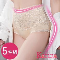 Karina 奢華蕾絲高腰內褲 5件組
