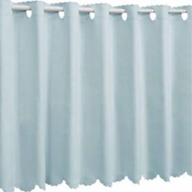 1級遮光 防炎 カフェカーテン 幅95×丈60cm ベビーブルー 無地(912000416U499)(03.ベビーブルー, 幅