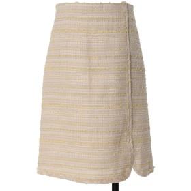 ef-de L 《大きいサイズ》ラメツイードスカート《Maglie par ef-de》 その他 スカート,イエロー