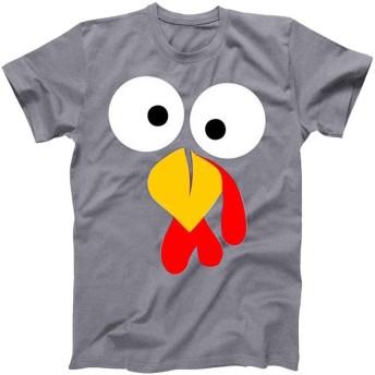 Top Homie おもしろ ターキー プリント Tシャツ レディース メンズ 半袖シャツ クリスマス 七面鳥 トップス クリスマスプレゼント 大きいサイズ S~3XL