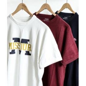 (coen/コーエン)ガゼットスラブプリントTシャツ/メンズ WHITE