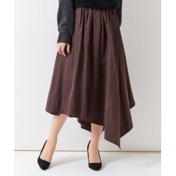 アシメフレアスカート (大きいサイズレディース)スカート, plus size skirts, 裙子