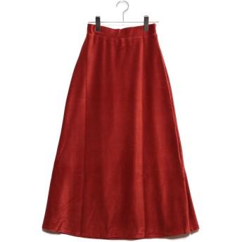 スタイルブロック STYLEBLOCK ベロアリブカットソーマーメイドロングスカート (ブリックブラウン)