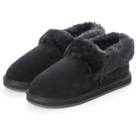 コカ ポルタ COCA PORTA ボア付きローカット起毛ブーツ (ブラック)