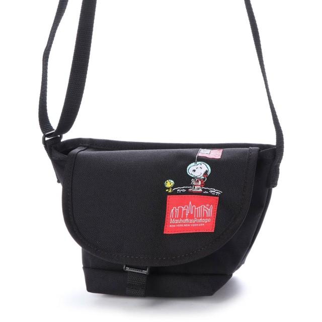 マンハッタンポーテージ Manhattan Portage Manhattan Portage × PEANUTS Mini Nylon Messenger Bag (Black)