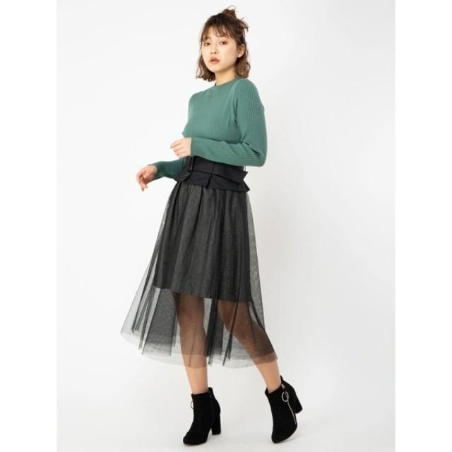 [マルイ] コルセット風チュール×へリンボンスカート/セシルマクビー(CECIL McBEE)