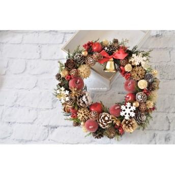 25cm ゴールドナッツとクリスマス・ベル