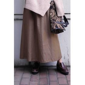 ◆シャーリングギャザースカート ブラウン