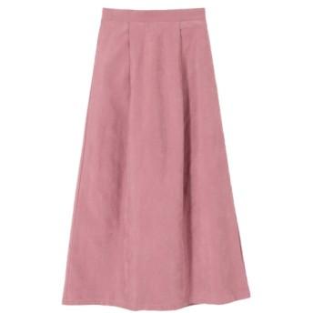 20%OFF titivate (ティティベイト) ピーチスキンタックフレアロングスカート ピンク