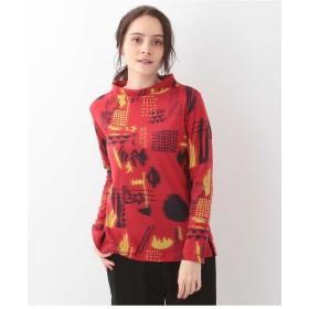 GIANNI LO GIUDICE 【洗える】インターシャデザインカットソー Tシャツ・カットソー,レッド