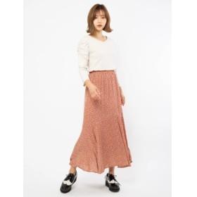 【セシルマクビー/CECIL McBEE】 小花柄マーメイドスカート