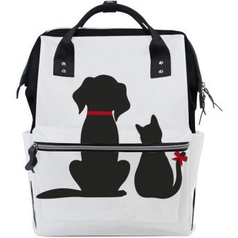 ZHONGJI マザーパッケージ リュックサック レディース 軽量 便利 多機能バックパック 大容量 収納袋 外出用 防水 厚手 猫と犬