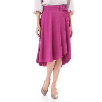 NATURAL BEAUTY TRトロストレッチフレアスカート ひざ丈スカート,ピンク2