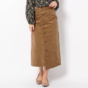 THE SHOP TK(Women)(ザ ショップ ティーケー:レディース)/コーデュロイストレッチラップスカート