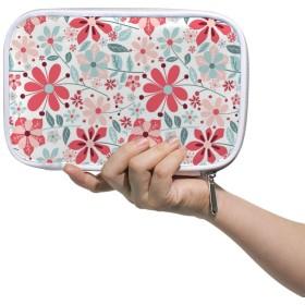 ZHIMI 化粧ポーチ メイクポーチ コンパクト レディース 化粧品収納バッグ 防水 柔らかい おしゃれ コスメケース 綺麗 花柄 機能的 軽量 小物入れ 出張 海外旅行グッズ パスポートケースとしても適用