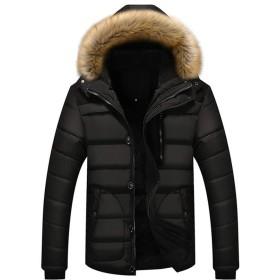 メンズ アウター 中綿ジャケット 中綿入り 冬用 厚手 暖かい 保温 防風防寒 フード付き ファー付き アウトドア カジュアル ショート丈 シンプル おしゃれ かっこいい 大きいサイズ 4色7サイズ展開