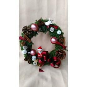 サンタさん付きクリスマスリース2