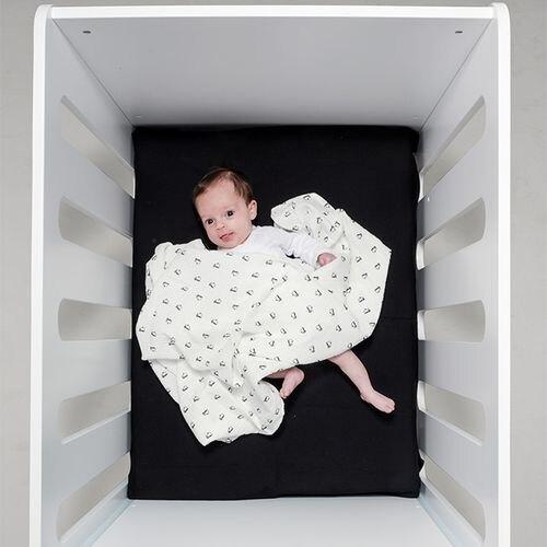 BabyBites 西班牙鯊魚咬一口 嬰兒純棉透氣包巾-北極企鵝★衛立兒生活館★
