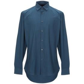 《セール開催中》SALVATORE FERRAGAMO メンズ シャツ ブルーグレー L コットン 100%