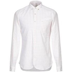 《セール開催中》DNL メンズ シャツ ホワイト 40 コットン 85% / 麻 15%