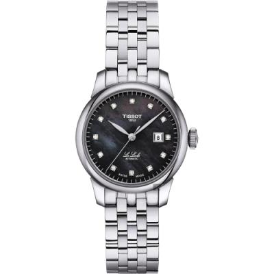 TISSOT 天梭 Le Locle 力洛克 典雅真鑽機械女錶-珍珠貝/29mm T0062071112600