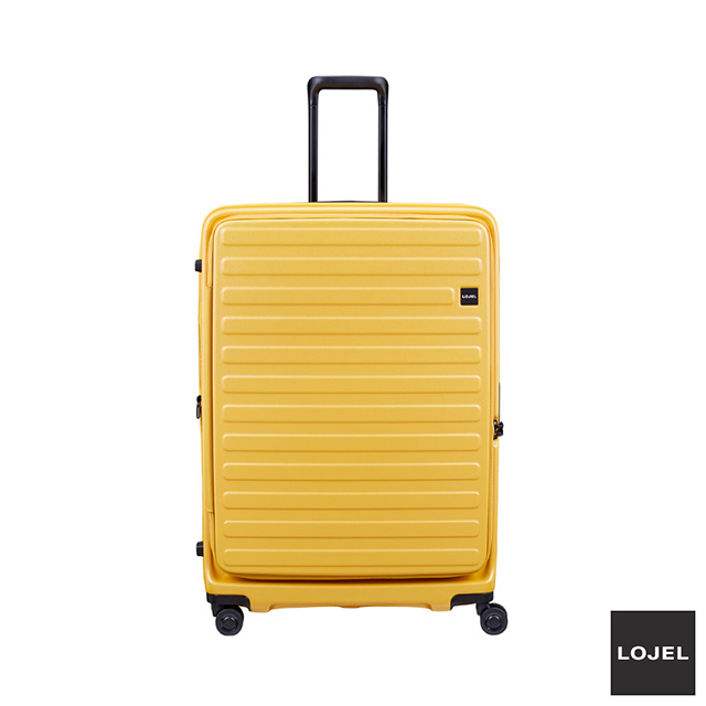 LOJEL CUBO 前開式 可擴充 拉鍊 硬殼 30吋 行李箱  芥末黃