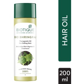 Biotique Bhringraj Therapeutic Oil For Falling Hair 200Ml/6.76Fl.Oz. (Ship from India)