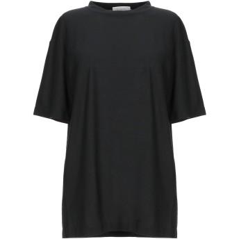 《セール開催中》SLOWEAR レディース T シャツ ブラック 44 コットン 100%