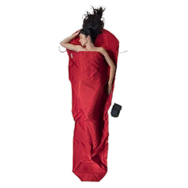 【COCOON奧地利戶外配件 】睡袋內袋木乃伊型 超細纖維蠶寶袋ML-紅