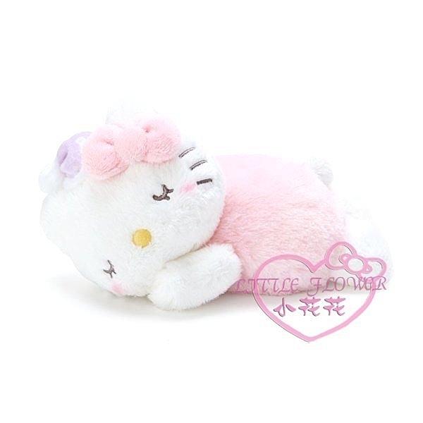 ♥小花花日本精品♥ HelloKitty 凱蒂貓美樂蒂趴姿睡覺絨毛暖暖靠墊 96302309
