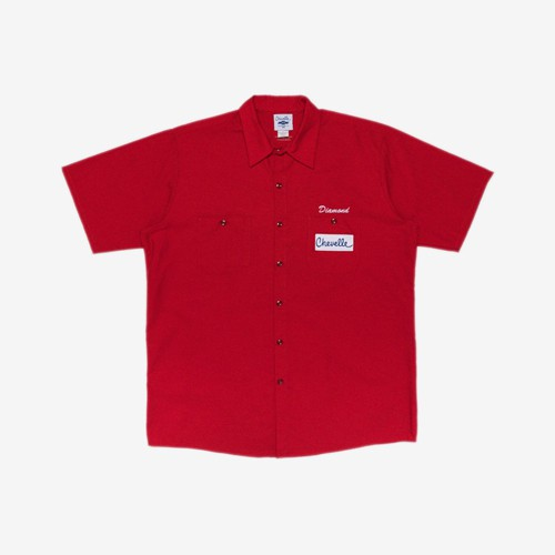 Diamond Chevelle Big Block 工作襯衫 (紅)《Jimi Skate Shop》