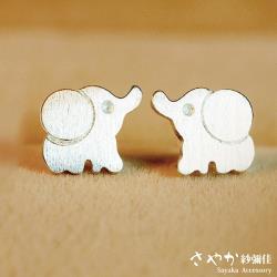 【Sayaka紗彌佳】可愛動物系列大象造型耳環