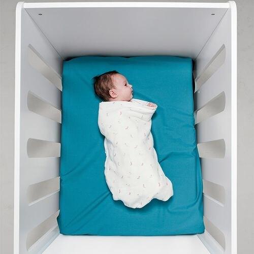 BabyBites 西班牙鯊魚咬一口 嬰兒純棉透氣包巾-快樂襪子★衛立兒生活館★