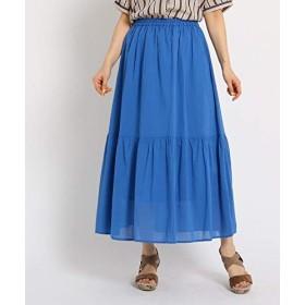 [ ザショップティーケー ] マキシ・ロングスカート ティアードスカート 04076008 レディース ライトブルー(091) 12(M)