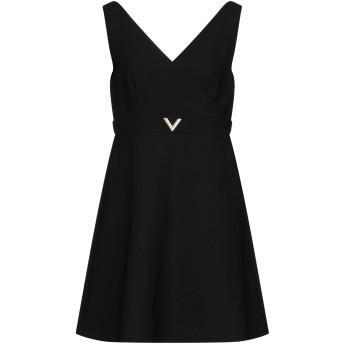 《セール開催中》VALENTINO レディース ミニワンピース&ドレス ブラック 42 バージンウール 94% / ポリウレタン 5% / ナイロン 1%