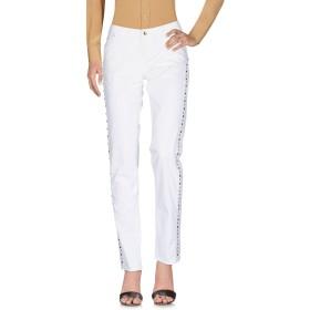 《セール開催中》EAN 13 レディース パンツ ホワイト 44 コットン 97% / ポリウレタン 3%