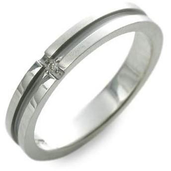[ラバーズシーン] シルバー リング 指輪 ダイヤモンド グレー 17.0号 LSR5033-DBK-17