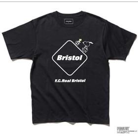▼188▼新 Mサイズ F.C.R.B.×PEANUTS EMBLEM RUN TEE SNOOPY スヌーピー Tシャツ 黒sophブリストルF.C.Real Bristol F.C.R.B.①