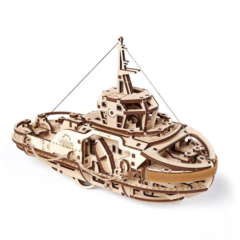 UGEARS Tugboat 西奥多拖船|免電力自走模型|益智玩物