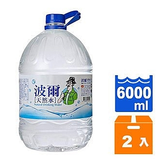 金車 波爾天然水 6000ml (2入)/箱【康鄰超市】