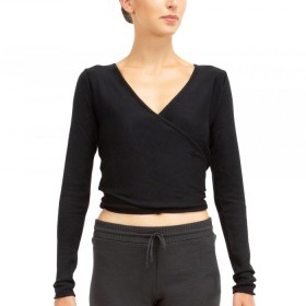 Repetto(レペット)/Long sleeved wrap-over top