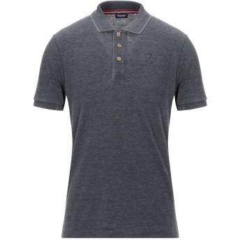 《セール開催中》BLAUER メンズ ポロシャツ スチールグレー S コットン 50% / ポリエステル 50%