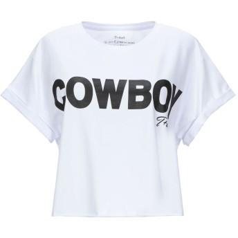 《セール開催中》T+ART レディース T シャツ ホワイト XS コットン 90% / ポリウレタン 10%