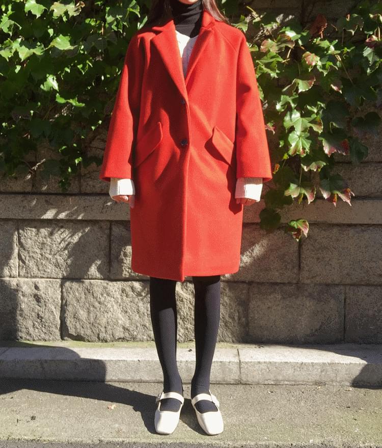韓國空運 - ESSAYNotched Collar Raglan Coat 大衣外套