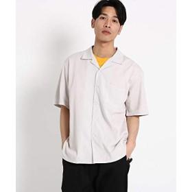 (ザ ショップ ティーケー) THE SHOP TK 【WEB限定】ビッグシルエットレーヨン開襟シャツ/オープンカラーシャツ N4086603 02(M) ライトグレー(011)