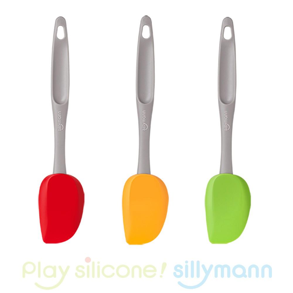 【韓國sillymann】 長柄抹刀(橘黃/綠/紅)100%鉑金矽膠