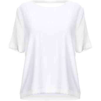 《セール開催中》MANILA GRACE レディース T シャツ ホワイト 0 レーヨン 92% / ポリウレタン 8% / シルク